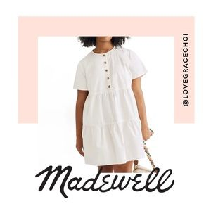 Madewell | Button-Front Tiered Mini Dress